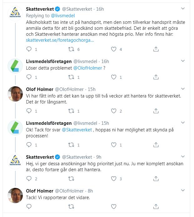 skatteverket twitter konversation